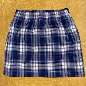 Parker Skirts - School girl- shades of blue plaid pleated skirt.